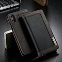 levne iPhone pouzdra-CaseMe Carcasă Pro Apple iPhone XS Max Peněženka / Pouzdro na karty / se stojánkem Celý kryt Jednobarevné Pevné Textil pro iPhone XS Max