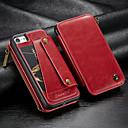 hesapli iPhone Kılıfları-CaseMe Pouzdro Uyumluluk Apple iPhone 8 / iPhone 7 Cüzdan / Kart Tutucu / Şoka Dayanıklı Tam Kaplama Kılıf Solid Sert PU Deri için iPhone 8 / iPhone 7