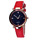 cheap Women's Watches-Women's Wrist Watch Quartz Leather Black / Red / Green Casual Watch Analog Fashion Colorful - Red Green Pink One Year Battery Life / SSUO 377