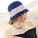 ieftine Moda Lolita-Minunata doamnă Maisel Pentru femei Adulți femei Vintage 1950 Cloche Hat pălărie Albastru Bloc Culoare Lână Veșminte de cap Lolita Accesorii
