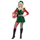 ieftine Proiectoare LED-Crăciun Dress Santa Clothe Adulți Bărbați Crăciun Crăciun An Nou Festival / Sărbătoare Lycra Elastan Verde Costume de Carnaval Crăciun