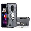 رخيصةأون أغطية أيفون-غطاء من أجل LG LG K10 2018 / LG K8 / Moto C plus ضد الصدمات / حامل الخاتم غطاء خلفي درع قاسي الكمبيوتر الشخصي