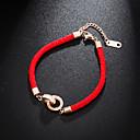 ieftine Câini Articole şi Îngrijire-Funie Brățară - Ștras, Oțel titan Norocos femei, European, stil minimalist, Modă Alb / Roșu-aprins Pentru Zilnic Pentru femei