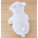 זול אביזרים ובגדים לכלבים-כלבים / חתולים תחפושות בגדים לכלבים אחיד / דמות / סִיסמָה לבן קטיפה תחפושות עבור חיות מחמד יוניסקס מסוגנן / להסוות