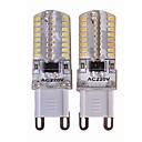 billiga Bakljus-SENCART 4pcs 3.5 W LED-lampor med G-sockel 450 lm G9 T 64 LED-pärlor SMD 3014 Ny Design Dekorativ Varmvit Vit 110-240 V