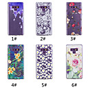 baratos Galaxy Note 9 Cases / Tampas-Capinha Para Samsung Galaxy Note 9 / NNote 8 Estampada Capa traseira Flor Macia TPU para Note 9 / Note 8