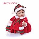 ieftine păpuși-NPKCOLLECTION NPK DOLL Păpuși Renăscute Girl Doll Bebe Fetiță 18 inch Cadou Draguț Artificial Implantation Brown Eyes Lui Kid Fete Jucarii Cadou