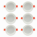 cheap Downlights-6pcs 5 W 360 lm 10 LED Beads Easy Install Recessed LED Downlights Warm White Cold White 220-240 V Ceiling Home / Office Living Room / Dining Room