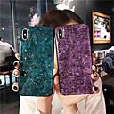 رخيصةأون أغطية أيفون-غطاء من أجل Apple iPhone XS / iPhone XR / iPhone XS Max IMD غطاء خلفي حجر كريم ناعم TPU
