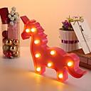رخيصةأون ديكورات خشب-1PC Unicorn الصمام ليلة الخفيفة أبيض دافئ إبداعي <5 V