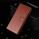 رخيصةأون الأساور الذكية-غطاء من أجل Huawei Huawei P20 / Huawei P20 Pro / Huawei P20 lite حامل البطاقات / مع حامل / قلب غطاء كامل للجسم لون سادة قاسي جلد PU