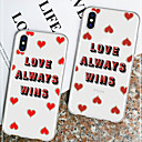 cheap iPhone 6s / 6 Screen Protectors-Case For Apple iPhone XR / iPhone XS Max Pattern Back Cover Word / Phrase / Heart Soft TPU for iPhone XS / iPhone XR / iPhone XS Max