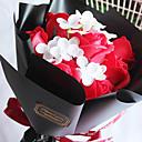 رخيصةأون أزهار اصطناعية-زهور اصطناعية 1 فرع كلاسيكي الحديث النمط الرعوي الورود أزهار الطاولة