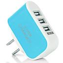 ieftine Mufă de încărcare-Încărcător Portabil / Încărcător Wireless Încărcător USB Priză US Normal 3 Porturi USB 2 A DC 5V pentru