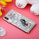 رخيصةأون أغطية أيفون-غطاء من أجل Apple iPhone XS / iPhone XR / iPhone XS Max ضد الصدمات / سائل متدفق / نموذج غطاء خلفي كلب / بريق لماع ناعم TPU