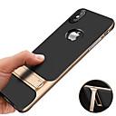 رخيصةأون أغطية أيفون-غطاء من أجل Apple iPhone XS / iPhone XR / iPhone XS Max ضد الصدمات / مع حامل / تصفيح غطاء خلفي لون سادة قاسي TPU