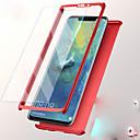 رخيصةأون Huawei أغطية / كفرات-غطاء من أجل Huawei Huawei P20 / Huawei P20 lite / Huawei P9 Plus ضد الصدمات غطاء كامل للجسم لون سادة قاسي الكمبيوتر الشخصي