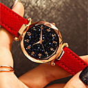 זול שעוני נשים-בגדי ריקוד נשים שעון יד קווארץ עור שחור / כחול / אדום 30 m עמיד במים יצירתי אנלוגי אופנתי צבעוני - חום אדום ירוק