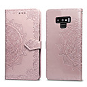 cheap Galaxy J Series Cases / Covers-Case For Samsung Galaxy Note 9 Card Holder / Flip Full Body Cases Solid Colored Hard PU Leather for Note 9