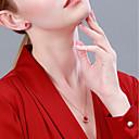 halpa Korvakorut-Naisten Kaulakoru S925 Sterling Hopea Ruusun punainen 40+3 cm Kaulakorut Korut 1kpl Käyttötarkoitus Syntymäpäivä mielitietty