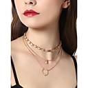 저렴한 패션 목걸이-여성용 계층화 된 목걸이 모조 다이아몬드 우아함 골드 30 cm 목걸이 보석류 1 개 제품 결혼식 약혼 거리 데이트 클럽