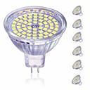 billiga LED-spotlights-6pcs 5 W LED-spotlights 450 lm MR16 60 LED-pärlor SMD 2835 Dekorativ Vackert Varmvit Kallvit 220-240 V