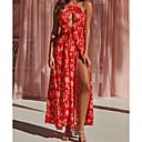 Недорогие Другие украшения-Жен. Элегантный стиль С летящей юбкой Платье - Геометрический принт Макси