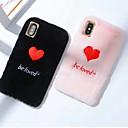olcso iPhone tokok-Case Kompatibilitás Apple iPhone XS Max / iPhone 6 Ütésálló Fekete tok Szív Puha Textil mert iPhone XS / iPhone XR / iPhone XS Max