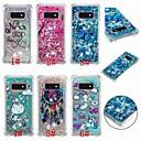 ieftine Machiaj & Îngrijire Unghii-Maska Pentru Samsung Galaxy S9 / S9 Plus / S8 Plus Anti Șoc / Scurgere Lichid / Transparent Capac Spate Fluture / Inorog / Luciu Strălucire Moale TPU