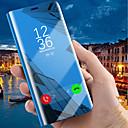 رخيصةأون حافظات / جرابات هواتف جالكسي J-غطاء من أجل Samsung Galaxy J8 (2018) / J7 Prime / J7 Max مع حامل / تصفيح / مرآة غطاء كامل للجسم لون سادة قاسي جلد PU