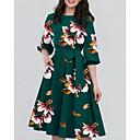 ieftine Momeală Pescuit-Pentru femei Elegant Linie A Rochie Floral Lungime Genunchi