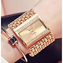 ieftine Brățări-Pentru femei Ceas de Mână ceas de aur Quartz Oțel inoxidabil Argint / Auriu Rezistent la Apă Model nou Analog Vintage Modă - Auriu Argintiu