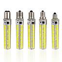 ieftine Becuri LED Corn-1 buc 5 W Becuri LED Corn 1000-1200 lm E14 E12 E17 T 152 LED-uri de margele SMD 5730 Intensitate Luminoasă Reglabilă Alb Cald Alb Rece 220-240 V 110-130 V