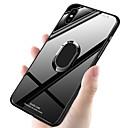 olcso iPhone tokok-Case Kompatibilitás Apple iPhone XR / iPhone XS Max Ütésálló / Tartó gyűrű Fekete tok Egyszínű Kemény TPU / Hőkezelt üveg mert iPhone XS / iPhone XR / iPhone XS Max