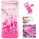 cheap Galaxy S Series Cases / Covers-Case For Samsung Galaxy Galaxy S10 Plus / Galaxy S10 E Flowing Liquid / Pattern / Glitter Shine Back Cover Flamingo / Glitter Shine Soft TPU for S9 / S9 Plus / S8 Plus