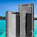 halpa Galaxy S -sarjan kotelot / kuoret-Etui Käyttötarkoitus Samsung Galaxy Galaxy S10 Plus / Galaxy S10 E Tuella / Pinnoitus / Peili Suojakuori Yhtenäinen Pehmeä PU-nahka varten S9 / S9 Plus / S8 Plus