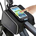 رخيصةأون ثنائي العينين-ROSWHEEL حقيبة الهاتف الخليوي حقيبة دراجة الإطار 5 بوصة الشاشات التي تعمل باللمس ركوب الدراجة إلى iPhone 8/7/6S/6 iPhone X iPhone XR أسود أخضر / الدراجة / iPhone XS / iPhone XS Max / سحاب مقاوم للماء