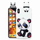 olcso iPhone tokok-Case Kompatibilitás Apple iPhone XR / iPhone XS Max Minta Fekete tok Rajzfilm / Panda Puha TPU mert iPhone XS / iPhone XR / iPhone XS Max