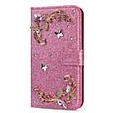 Недорогие Чехлы и кейсы для Galaxy S5 Mini-Кейс для Назначение SSamsung Galaxy S9 / S9 Plus / S8 Plus Кошелек / Бумажник для карт / Стразы Чехол Сияние и блеск / Стразы / Цветы Твердый Кожа PU
