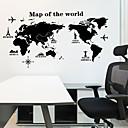 halpa Sisustustarrat-Koriste-seinätarrat - Kartta Wall Stickers Maisema Olohuone / Makuuhuone / Keittiö