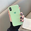 abordables Coques d'iPhone-Coque Pour Apple iPhone X / iPhone XS Max Motif Coque Couleur Pleine / Cœur Flexible TPU pour iPhone XS / iPhone XR / iPhone XS Max