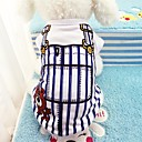 cheap Dog Clothing & Accessories-Dogs Vest Dog Clothes Stripes Blue Pink Cotton Costume For Spring &  Fall Summer Unisex Casual / Daily