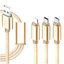 levne iPhone kabely a adaptéry-Micro USB / Osvětlení / Typ C Adaptér kabelu USB Vše v jednom / Pletený / 1 až 3 Kabel Pro iPad / Samsung / Huawei 120 cm Pro Textil
