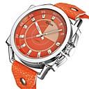 ieftine Ceasuri Bărbați-Oulm Bărbați Ceas Elegant Quartz Piele Orange 50 m Calendar Ceas Casual Mare Dial Analog Analog - Digital Modă Plin de Culoare - Portocaliu