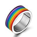 ieftine Coliere-Bărbați / Pentru femei Band Ring 1 buc Argintiu Teak Plin de Culoare Nuntă / Petrecere / Logodnă Costum de bijuterii