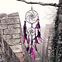 رخيصةأون ديكور الحائط-حلم الماسكون اليدوية مع الجدار ريشة زخرفة زخرفة زخرفة ديكور المنزل
