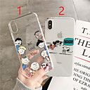 cheap iPhone Cases-Case For Apple iPhone XR / iPhone XS Max Pattern / Transparent Back Cover Cartoon / Word / Phrase Soft TPU for iPhone X /Xs / 6 /6 Plus / 6S /6S Plus / 7 / 7 Plus / 8 / 8 Plus
