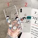 levne iPhone pouzdra-pouzdro pro Apple iphone xr / iphone xs max vzor / průhledný zadní kryt kreslený / slovo / fráze soft tpu pro iPhone x / xs / 6/6 plus / 6s / 6s plus / 7/7 plus / 8/8 plus