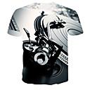 ieftine Genți Călătorie-Bărbați Rotund - Mărime Plus Size Tricou #D Imprimeu Gri