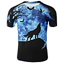 billige Hættetrøjer og sweatshirts til herrer-Herre - Dyr Trykt mønster T-shirt